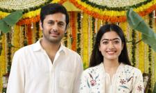 Nithiin AND Rashmika Mandanna Bheeshma movie launched Photo Gallery - Sakshi