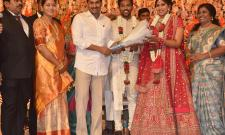 AP Home Minister Mekathoti Sucharitha Daughter Wedding Reception Photo Gallery - Sakshi