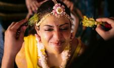 Kajal Aggarwal shares images of Haldi ceremony Photo Gallery - Sakshi
