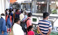People Going To Their Hometown During Sankranthi Festival - Sakshi