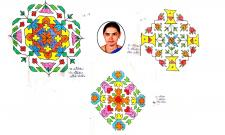 Sankranthi Muggulu 2021: Special Rangavallulu - Sakshi