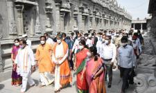 Justice NV Ramana visit Yadadri - Sakshi