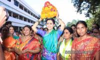 Actor Gautami Participates Bathukamma Fest