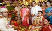 ys bharathi reddy attend bharathi cement director daughter marriage - Sakshi
