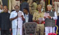 HD Kumaraswamy Oath Taking Ceremony Images in Karnataka - Sakshi