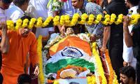Manohar Parrikar during his funeral in Panaji Photo Gallery - Sakshi