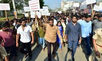 Mohan Babu Dharna Against Naidu in Tirupati  Photo Gallery - Sakshi