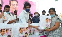 Film Workers Distributed By Talasani Seva Trust Photo Gallery - Sakshi