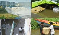heavy waterfall in krishna river photo gallery - Sakshi