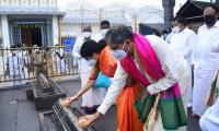 Supreme Court Chief Justice NV Ramana visits Tirumala - Sakshi
