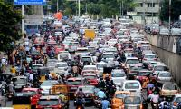People Rush on Hyderabad Roads For Their Works - Sakshi