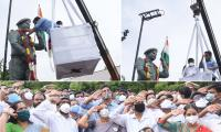 Minister KTR Inaugurated Colonel Santosh Babu Statue Photo Gallery - Sakshi