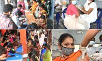 Coronavirus: Mega Vaccination Record Drive in Andhra Pradesh - Sakshi