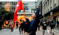 Protesters against vaccine mandate in Melbourne clash with police - Sakshi
