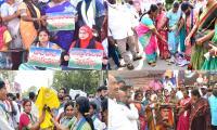 YSR Congress Party Activists Fires On TDP Photos - Sakshi