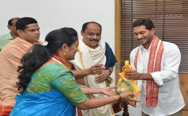 TTD EO Singhal and Priests Meets YS Jagan At Amaravathi Photo Gallery - Sakshi