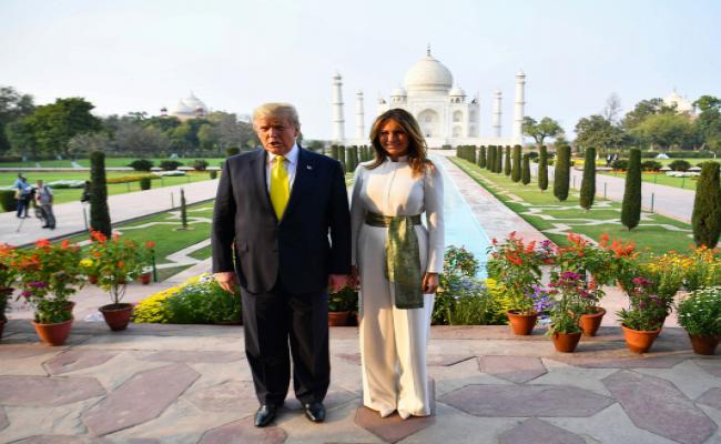 US President Donald Trump visits Taj Mahal - Sakshi