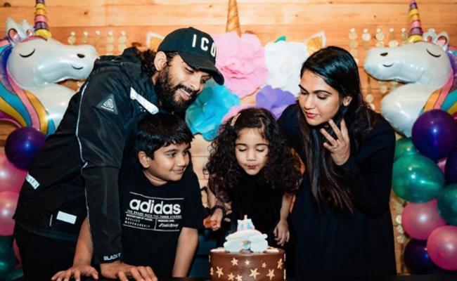 Allu Arjun Daughter Birthday Celebration Photo Gallery - Sakshi