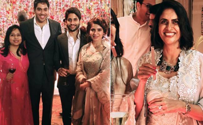 chaithu samantha reception at lakshmi's house