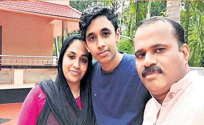 Mustafa And his Wife Passed Intermediate Along With His Son At Kerala - Sakshi