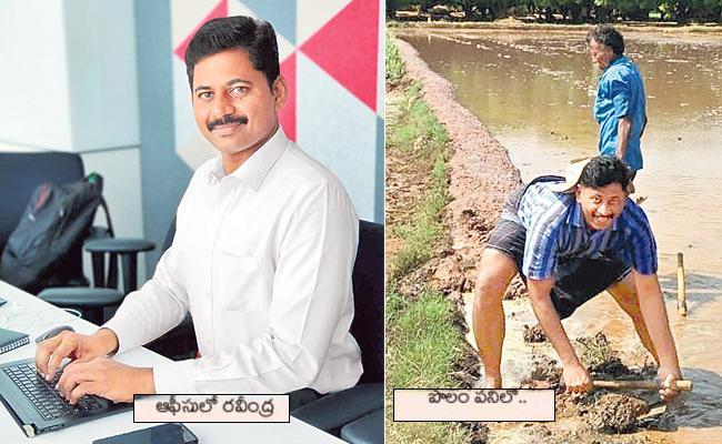 Chittoor: Weekend Farmer Sandra Ravindra - Sakshi