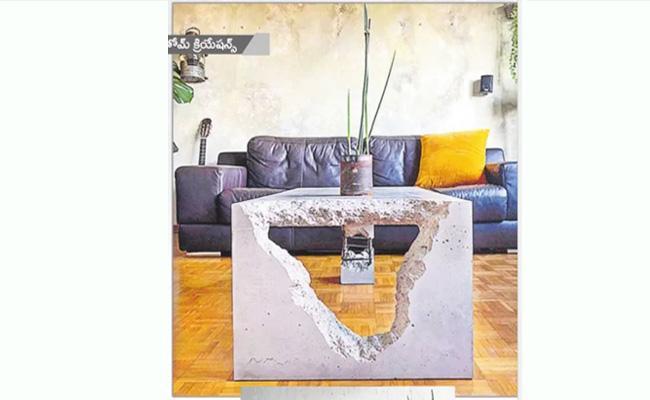 Trendy Look: People Show Interest On Concrete Furniture - Sakshi
