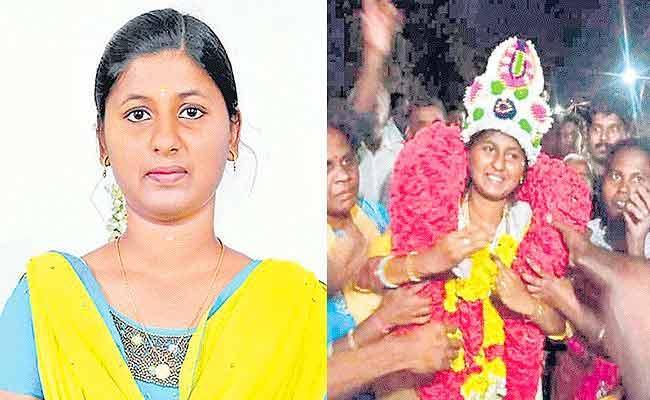 22 Year Old Sharukala Elected Panchayat President In Tamil Nadu - Sakshi