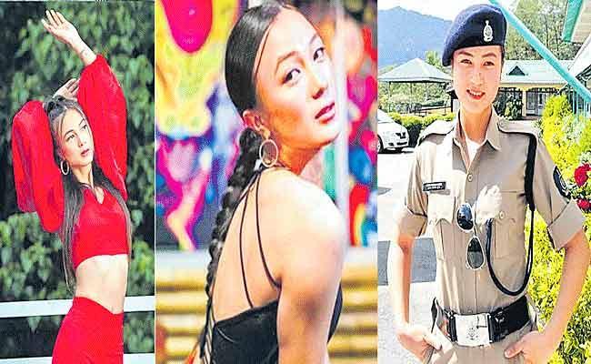Eksha Hangma Subba is a Supermodel, Boxer, Biker and Police officer - Sakshi