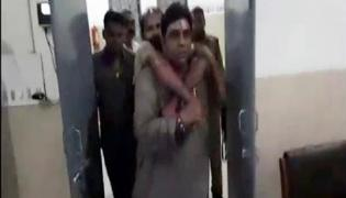 UP MLA carries road accident victim into Hospital