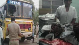 rtc driver dies of heart attack in guntur