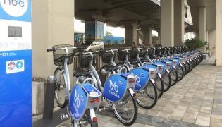 Smart bikes at Hyderabad Metro Stations - Sakshi