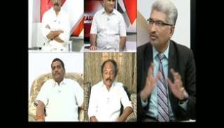 The headline show on discussion on farmers land polling - Sakshi