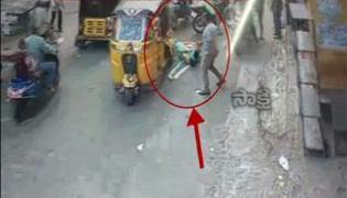 Bike riding woman  hit by auto - Sakshi