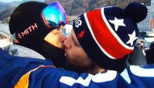 Televised Gay Kiss Lights Up Winter Olympics - Sakshi
