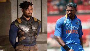 fans hail Hardik Pandyas performance in Black Panther - Sakshi