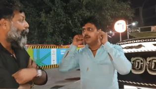 Taxi driver sit ups by MNS leader Nitin Nandgokar goes viral - Sakshi