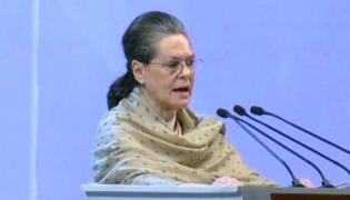 Sonia Gandhi Accuses Modi For Targeting Congress Party - Sakshi