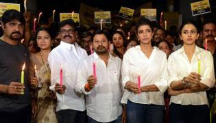 Maa Association Protest Against Social Media  - Sakshi