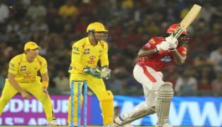 Punjab hold on to win by four runs despite MS Dhoni heroics - Sakshi