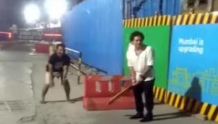 Sachin Playing Cricket On The Street of Mumbai At Midnight - Sakshi