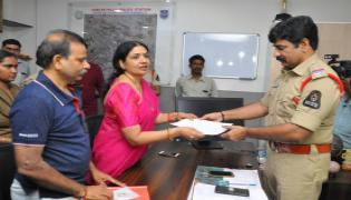 Jeevitha Rajashekar Lodges Complaint Against Social Activist Sandhya - Sakshi