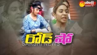 Heroine Madhavi Latha Took Into Police Custody - Sakshi