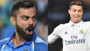 Virat Kohli is Cristiano Ronaldo of cricket, says Dwayne Bravo - Sakshi