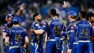 Mumbai Indians beat Royal Challengers Bangalore by 46 runs for first win - Sakshi