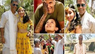 Milind Soman and Ankita Konwar wedding Pre Nuptial Ceremonies - Sakshi