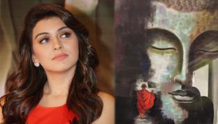 actress hansika motwani special art talent - Sakshi