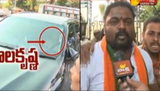 BJYM Leaders Fire On Balakrishna Comments Against PM Modi - Sakshi