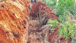 Continuous water supply of trenches - Sakshi