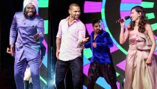 Ceat cricket awards 2018 -Chris Gayle And Shikhar Dhawan Dance - Sakshi