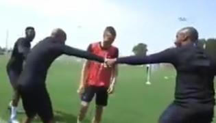 England Football players doing Kabaddi - Sakshi